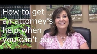 How to find an attorney to help for free.