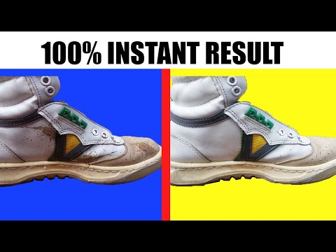 How to Clean White, Red or Any Color Shoes Easily - 100% Instant Result