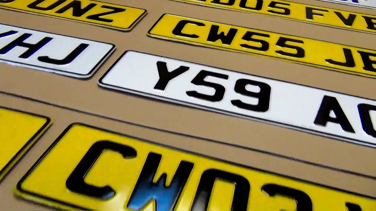Car Licence UK Number Plates Pressed 3d Aluminium Replacement Metal ...