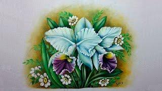 Como pintar uma Orquídea – Part 1