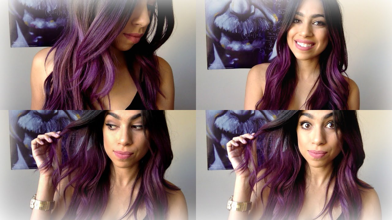 Purple ombre hair manic panic purple haze youtube solutioingenieria