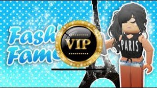 How to get to V.I.P for free in fashion famous! Roblox