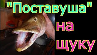 "Как сделать и забросить снасть ""Поставуша"" для ловли щуки и окуня.My fishing."