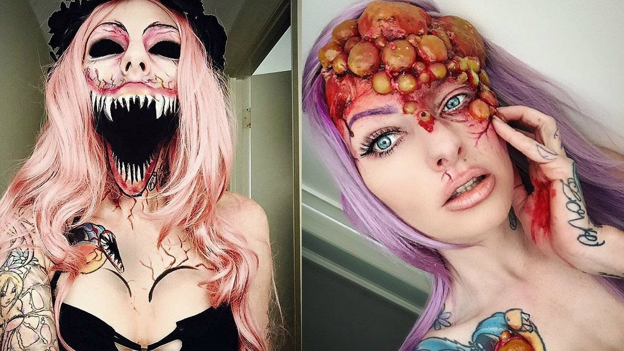 Most Scary Zombie Makeup Ever 2017| Creepy Halloween Makeup - YouTube