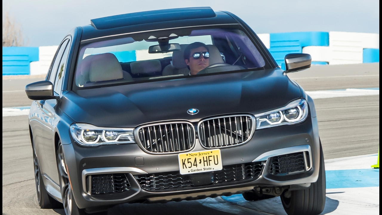 BMW M760Li on Palm Springs Raceway great SOUND from V12 BiTurbo