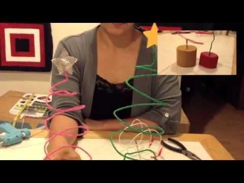 Como hacer un arbol de navidad de alambre youtube - Como hacer un arbol de navidad ...