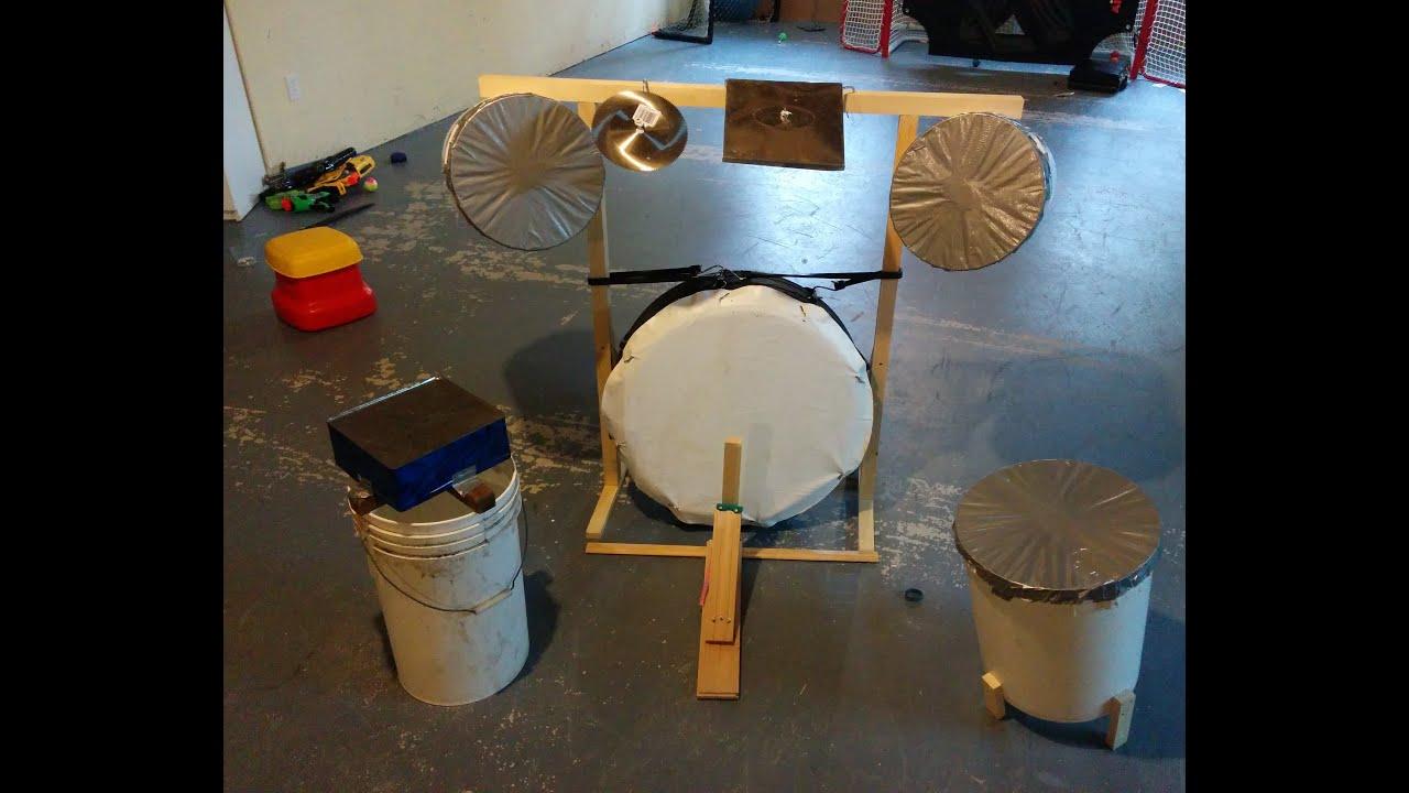 how to make a homemade drum set youtube. Black Bedroom Furniture Sets. Home Design Ideas
