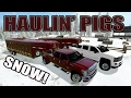 FARMING SIMULATOR 2017 | HAULIN' PIGS IN THE SNOW | 2016 CHEVY + FORD