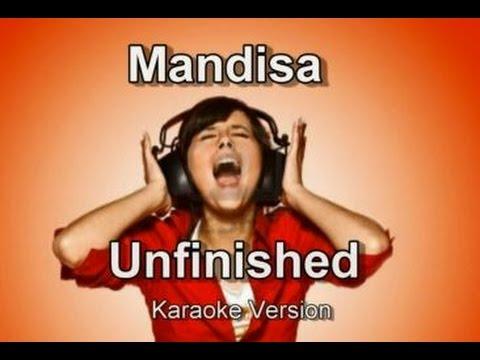"""Mandisa """"Unfinished"""" Karaoke Version"""