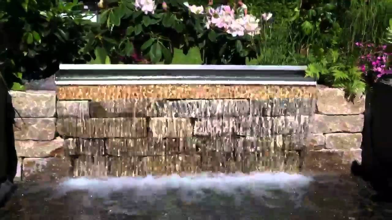 150cm breiter Wasserfall aus Edelstahl