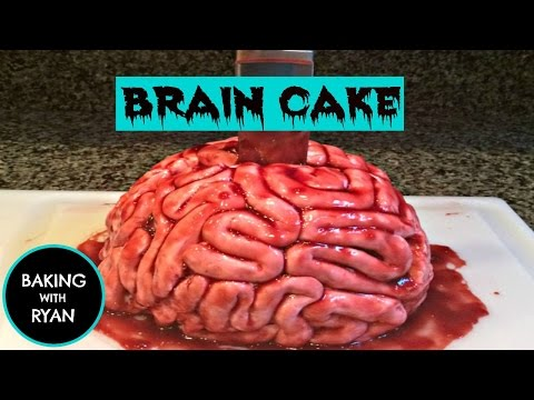 HOW TO MAKE A BRAIN CAKE - Episode 10 BAKING WITH RYAN