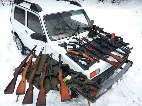 Охолощенное оружие большой обзор  (АКМС, АКСУ, ПМ, ТТ, Р-411, скс, АВТ, Обрез ВПО)