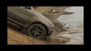 BMW X5 в речке/BMW X5 in the river ! 河川でのBMW X5