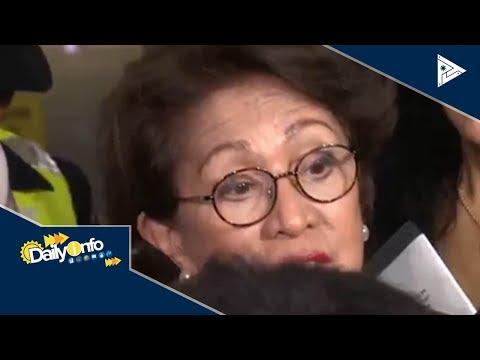 Ex-Ombudsman Conchita Carpio-Morales, nakabalik na sa bansa