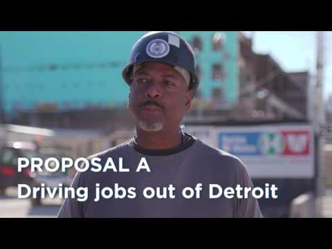 100,000 Workers Say Proposal A is Bad for Detroit Jobs