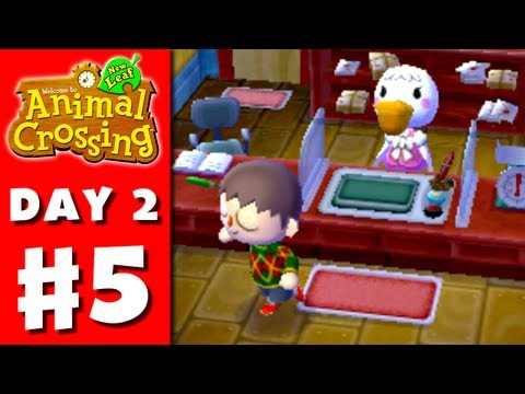 Animal Crossing: New Leaf - Part 5 - Post Office (Nintendo 3DS Gameplay Walkthrough Day 2)