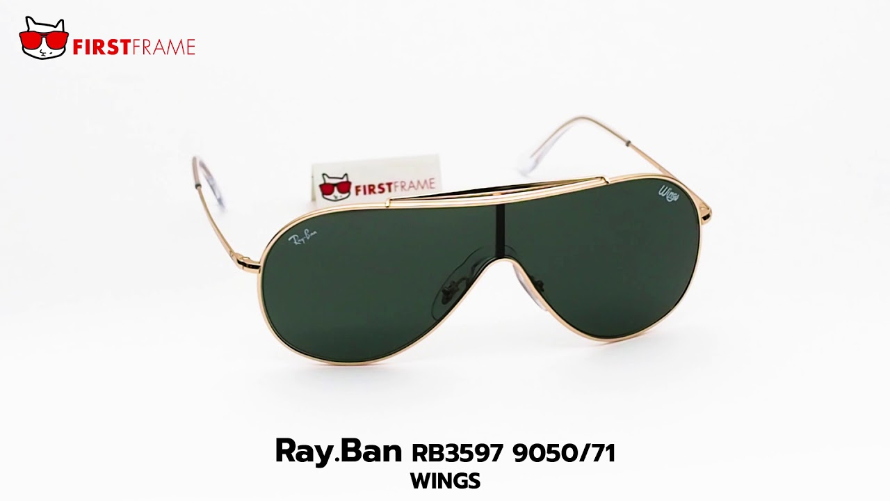 93383fe24 RayBan RB3597 9050/71 WINGS - YouTube