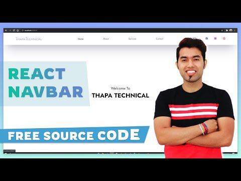 create React JS responsive Navbar From Scratch In Hindi 2021