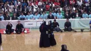第16回世界剣道 準々決勝 日本対ブラジル Japan vs Brazil [16th wkc]