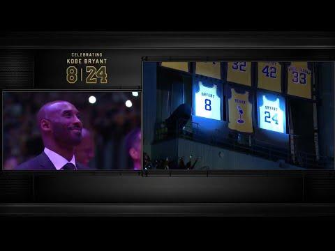 Kobe Bryant'ın 8 ve 24 numaralı formaları emekli ediliyor...