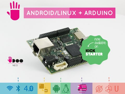 UDOO Neo: Wireless, Android + Linux + Arduino™, Embedded Sensors, starting from $49