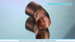 TRADING DEPOT: End Feed 45 Degree Street Elbow 28mm Part no: ENF108/45/28
