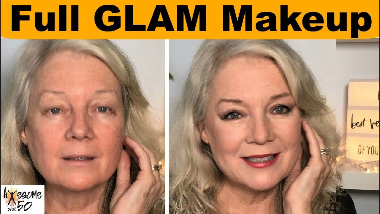 Full Glam Makeup from Former Model, Beauty, Make-up Tips on Hooded Eyes etc.. Mature Women over 50