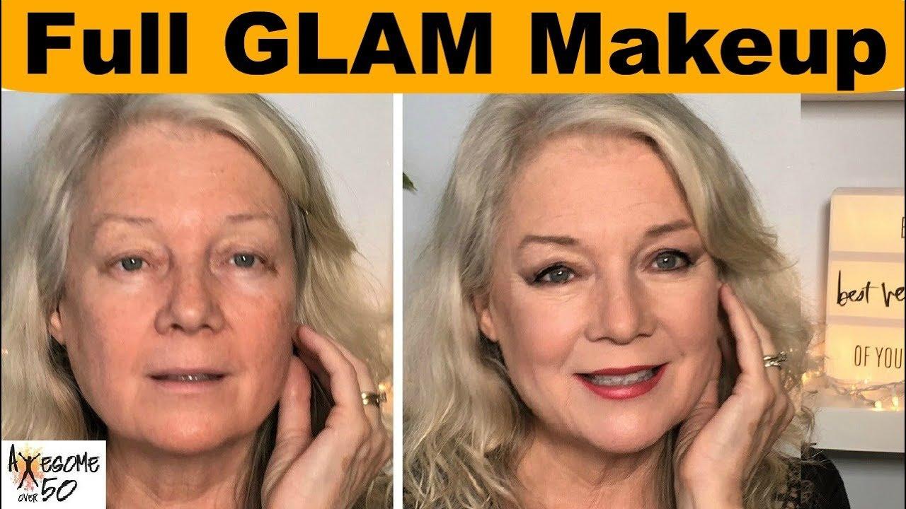Full Glam Makeup From Former Model Beauty Make Up Tips On Hooded Eyes Etc Mature Women Over 50 Youtube
