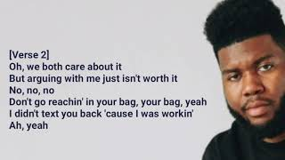 Khalid - My Bad (Audio) lyrics