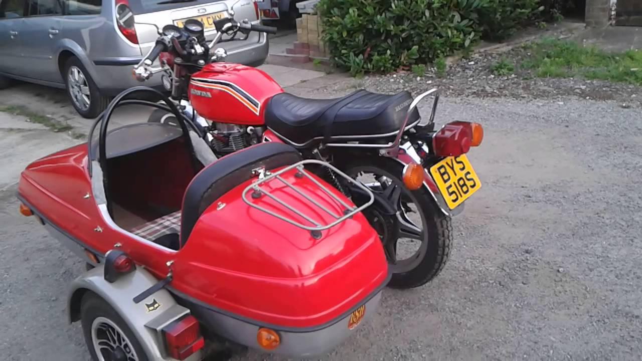 Honda CB 400 with sidecar
