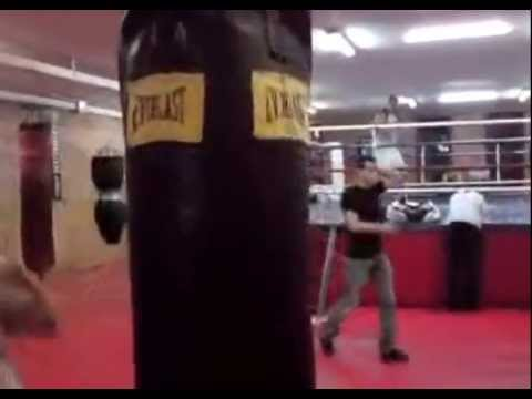Elena Tverdokhleb At The Gym Working Out On The Punch Bag