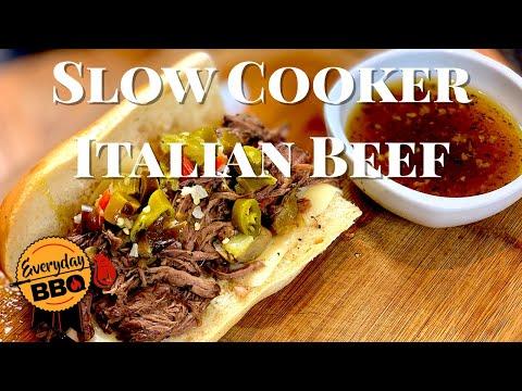 Italian Beef Sandwich Recipe   Slow Cooker   Best Homemade Italian Beef   Everyday BBQ