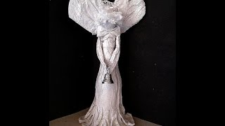 Diy - Elegant Papier Mache Angel Sculpture, Free Standing Angel, Mantel Decoration, Christmas Angel