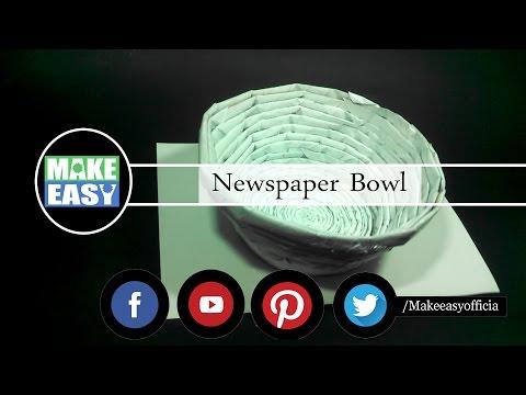 Diy-How to Make a paper Bowl