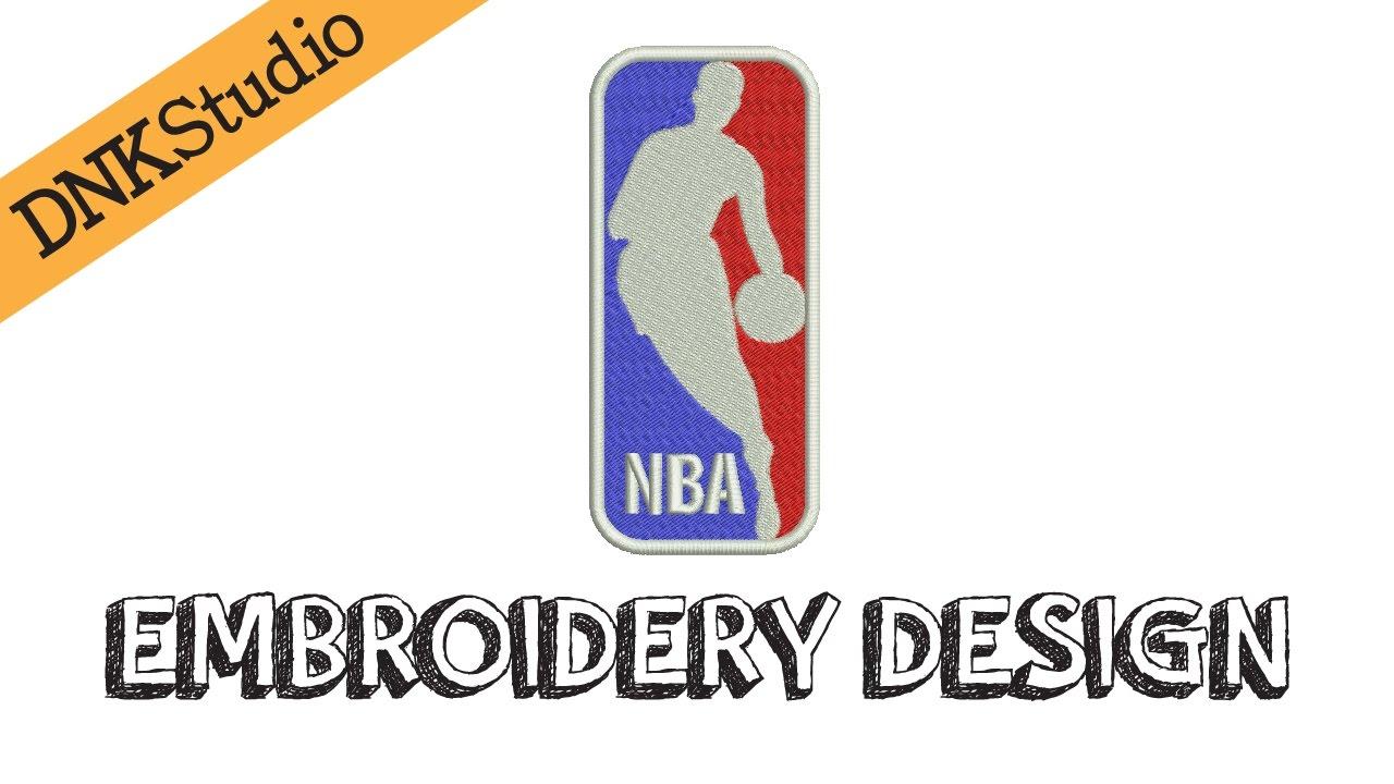 70941a756a8cc NBA Machine Embroidery Design Applique | Redraw