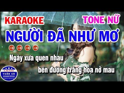 Karaoke Người Đã Như Mơ | Nhạc Sống Beat Nữ Dễ Hát | Karaoke Tuấn Cò