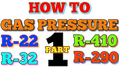 How to gas pressure in charging hindi R22 R32 R410A 290
