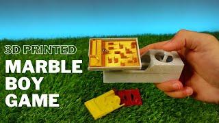 3D Printed Marble Boy Game - 3D Printing Timelapse