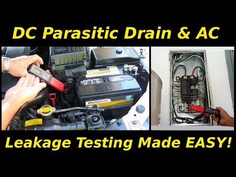 DC & AC Current Clamp (Parasitic Drain & Leakage Testing)