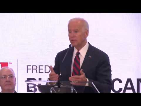 Vice President Joe Biden delivers the keynote speech at the opening of the Buffett Cancer Center