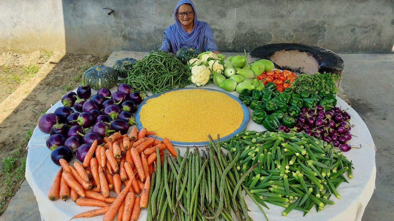 PUNJABI SAMBAR RECIPE By My Granny | SAMBAR RECIPE | MIX VEG SAMBAR | VILLAGE FOOD | VEG RECIPES