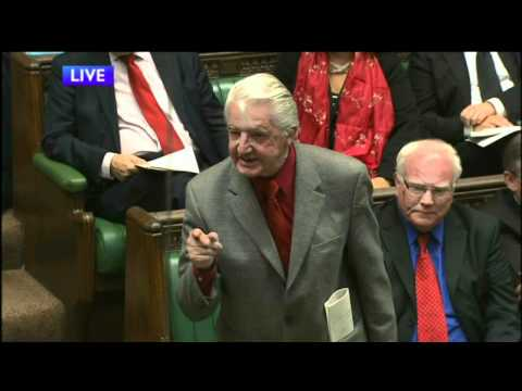 Dennis Skinner Yells at Tories during PMQ