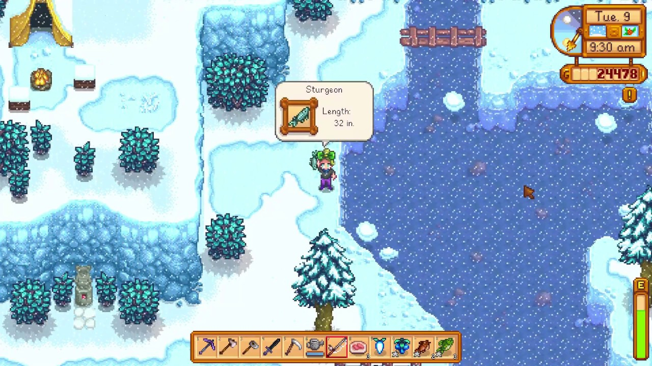 How I Got A Sturgeon Fish Stardew Valley Youtube
