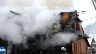 25 stycznia 2014r. - Pożar budynku mieszkalnego i gospodarczego w Poroninie