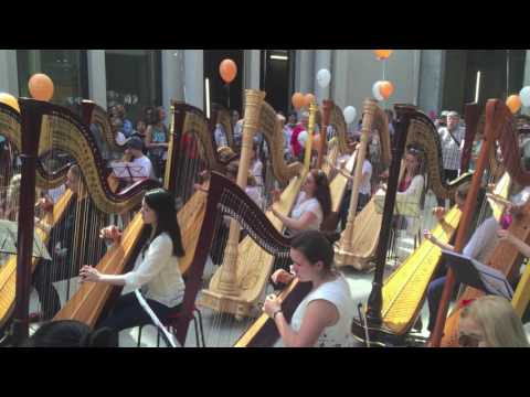 Harp Flashmob Berlin 11.6.2016 at the Berlin Palace