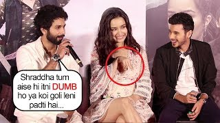 Shahid Kapoor Makes FUN Of Shraddha Kapoor's DUMB Moment At Batti Gul Meter Chalu Trailer Launch