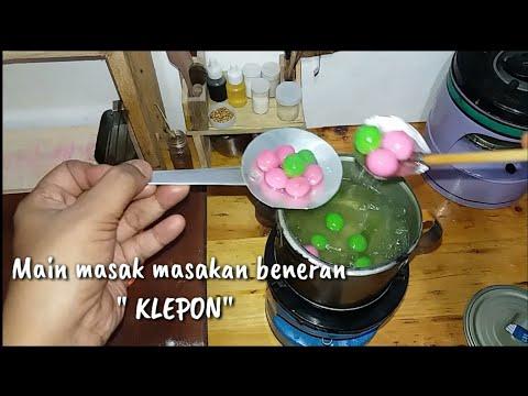 Mini Cooking Klepon Indonesian Food Masak Masakan Beneran Klepon Youtube