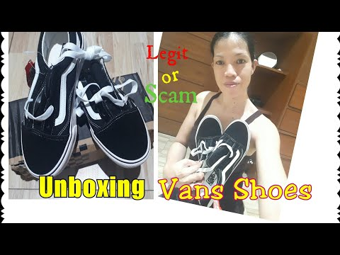 Unboxing My Vans Shoes made in LAZADA