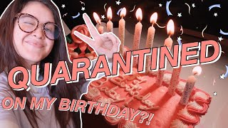 QUARANTINED ON MY BIRTHDAY! | my 25th, teaching online classes, & removing my gel nails at home vlog