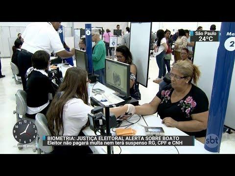 Multa para quem não cadastrar biometria é falsa, alerta Justiça Eleitoral | SBT Brasil (25/11/17)